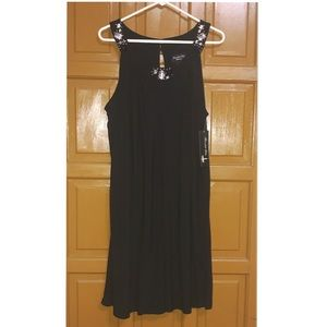 Black Scarlett Nite 18W Woman Beaded Collar Dress
